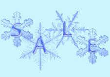 Sneeuwvlok met verkoop Stock Foto