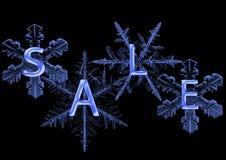 Sneeuwvlok met verkoop Royalty-vrije Stock Foto