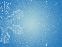 Sneeuwvlok op blauwe hemel royalty-vrije illustratie