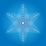 Sneeuwvlok op een blauwe achtergrond Stock Foto's