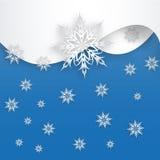 Sneeuwvlok op een document achtergrond Royalty-vrije Stock Afbeelding