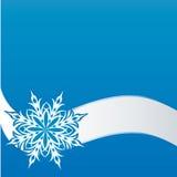 Sneeuwvlok op een document achtergrond Stock Fotografie