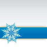 Sneeuwvlok op een document achtergrond Royalty-vrije Stock Fotografie