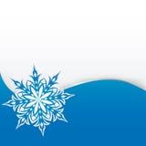 Sneeuwvlok op een document achtergrond Stock Foto