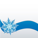 Sneeuwvlok op een document achtergrond Royalty-vrije Stock Foto's