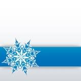 Sneeuwvlok op een document achtergrond Stock Afbeelding
