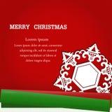Sneeuwvlok op Kerstmis Stock Afbeelding