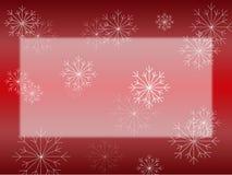 Sneeuwvlok op Rode Kaart Stock Afbeelding
