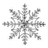 Sneeuwvlok op witte achtergrond Stock Foto's