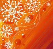 Sneeuwvlok-oranje Royalty-vrije Stock Foto