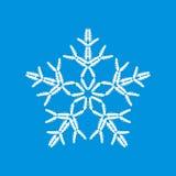 Sneeuwvlok van auto's wordt gemaakt die Stock Afbeelding
