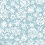 Sneeuwvlok van het Kerstmis de naadloze patroon. EPS 10 Stock Foto