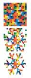 Sneeuwvlok van vierkanten Royalty-vrije Stock Afbeeldingen