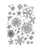 Sneeuwvlok, vectorillustratie Royalty-vrije Stock Foto