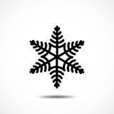 Sneeuwvlok vectorpictogram Royalty-vrije Stock Afbeelding