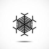 Sneeuwvlok vectorpictogram Stock Fotografie