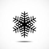 Sneeuwvlok vectorpictogram Stock Foto's