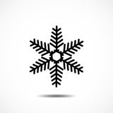Sneeuwvlok vectorpictogram Royalty-vrije Stock Fotografie