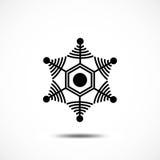 Sneeuwvlok vectorpictogram Royalty-vrije Stock Afbeeldingen