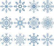 Sneeuwvlok Vectorreeks Royalty-vrije Stock Afbeeldingen