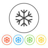 Sneeuwvlok vlak pictogram Royalty-vrije Stock Fotografie