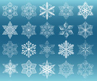 Sneeuwvlok witte reeks Stock Afbeeldingen