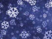 Sneeuwvlokachtergrond Stock Afbeelding