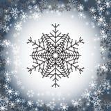 Sneeuwvlokembleem Geplaatste Cororknopen Royalty-vrije Stock Fotografie