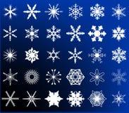 Sneeuwvlokinzameling Royalty-vrije Stock Foto's