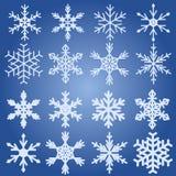 Sneeuwvlokinzameling stock illustratie