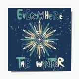 Sneeuwvlokkaart Stock Afbeeldingen