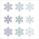 Sneeuwvlokken. vector illustratie