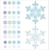 Sneeuwvlokken. royalty-vrije illustratie