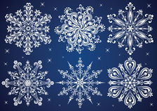 Sneeuwvlokken. Stock Afbeelding