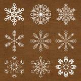 Sneeuwvlokken Stock Afbeeldingen