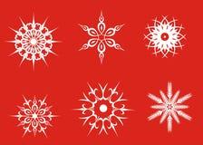 Sneeuwvlokken 2 vector illustratie