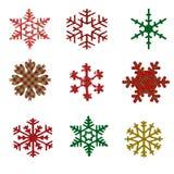 Sneeuwvlokken Royalty-vrije Stock Afbeeldingen
