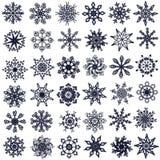 Sneeuwvlokken. Royalty-vrije Stock Fotografie