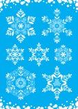 Sneeuwvlokken royalty-vrije illustratie