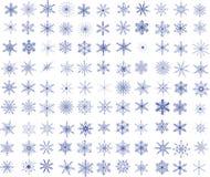 99 sneeuwvlokken Royalty-vrije Stock Afbeeldingen