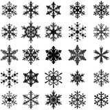 25 sneeuwvlokken Stock Foto's