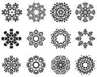 12 sneeuwvlokken Royalty-vrije Stock Afbeeldingen