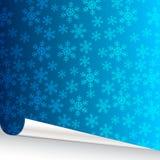 sneeuwvlokken achtergrond met gescheurd document Stock Foto's