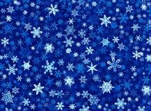 Sneeuwvlokken in Blauw Royalty-vrije Stock Fotografie
