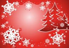 Sneeuwvlokken dance2 royalty-vrije illustratie