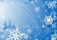 Sneeuwvlokken dance2 stock illustratie