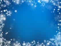 Sneeuwvlokken en sterren Stock Afbeelding