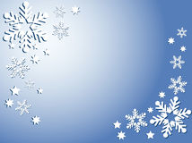 Sneeuwvlokken en sterren stock illustratie