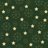Sneeuwvlokken en sterrenpatroon Royalty-vrije Stock Fotografie