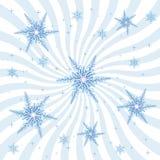 Sneeuwvlokken en Uitbarsting Stock Afbeelding